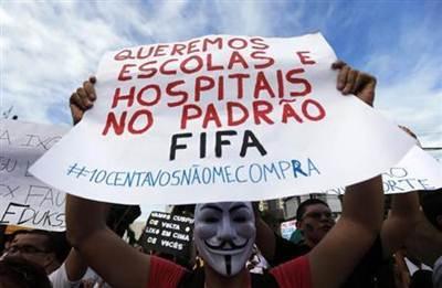 Las protestas podrían afectar a la Copa Confederaciones